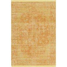 Yellow Area Rug Yellow Distressed Area Rugs Rugs The Home Depot