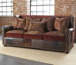 Leather And Tapestry Sofa Paul Sofa Stillgoode Great For A Tuscan Or Chic