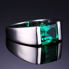 emerald gemstone rings images Jewelrypalace nano russian green created emerald ring for men jpg