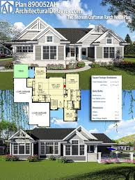 craftsman ranch plans plan 890052ah two bedroom craftsman ranch house plan craftsman