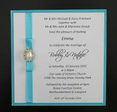 wedding invitations liverpool aqua blue wedding invite with pearl invitations
