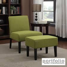 armless chair and ottoman set portfolio niles green linen armless chair and ottoman set 1940s