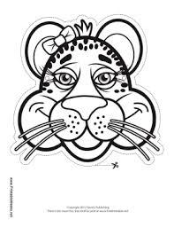 printable cheetah bow mask color mask