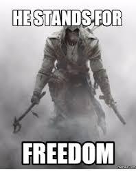 Freedom Meme - he stands for freedom memes com meme on me me