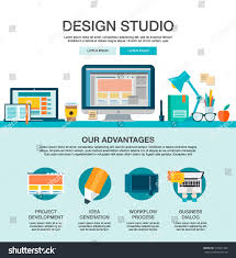 Homepage Design Concepts One Page Web Design Template Flat Stock Vector 370421489