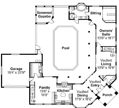 House Plans With Pools Inspiring Florida House Plans With Pool Photos Best Inspiration