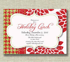 lunch invitation cards christmas invitation luncheon open house by girlsatplay