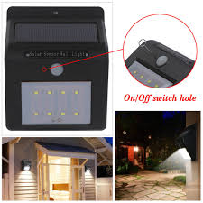 motion activated outdoor security triple head led flood light 270