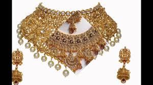 bridal gold set bridal choker sets and bridal gold designs for recption