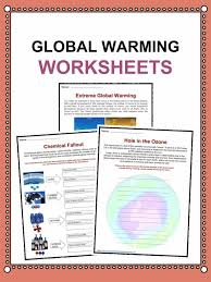 Global Warming Worksheet Global Warming Facts Worksheets Information For