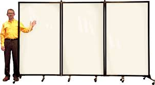 Rolling Room Divider New Screenflex Moveable Acryclic Wall A Portable Clear Room