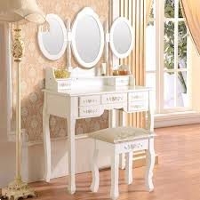 White Bedroom Dressing Tables Uenjoy White Dressing Table Set Free Stool And Uk Delivery 7