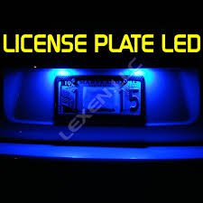 blue led license tag lights t10 5 smd