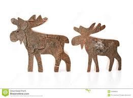 wooden christmas decoration isolated reindeer or elk handmade