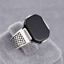 mens stone rings images Online men rings black onyx sterling silver from jaipur evince jewels jpg