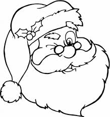 face santa claus coloring page of santa claus coloring pages free