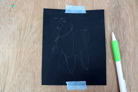 working in reverse how to paint on a black canvas
