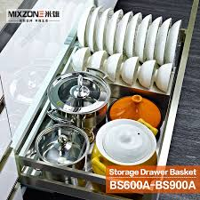 Kitchen Cabinet Pull Out Baskets Eco Friendly Stainless Steel Kitchen Cabinet Sliding Basket For