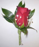 Red Rose Boutonniere Red Rose With Bling Boutonniere Grande Flowers
