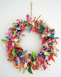 How To Make Christmas Wreath With Ornaments Scrap Fabric Wreath Tutorial Other Great Scrap Ideas Crafts