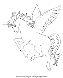 free horse coloring pages u2013 fantasy coloring pages