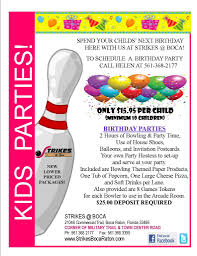 printable bowling and arcade party invitation