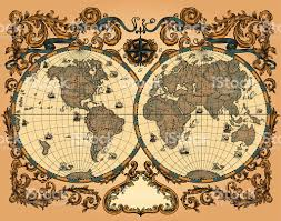 Map Pattern World Map In Vintage Style Stock Vector Art 165905985 Istock
