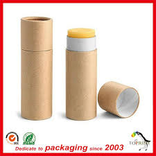 stick paper empty cosmetic deodorant paper tube lip balm stick paper packaging