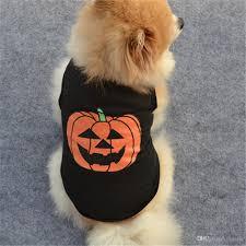 2017 sale pet dog clothes halloween festivals pumpkin cotton