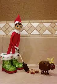 on shelf reindeer on the shelf shoveling reindeer i saw this at kroger