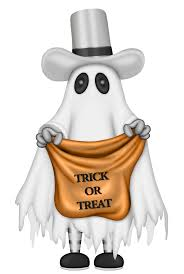 t shirt bag blood brown ghost halloween or treat trick with