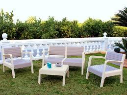 canape jardin salon jardin pvc canapé 2 pers 2 fauteuils table basse