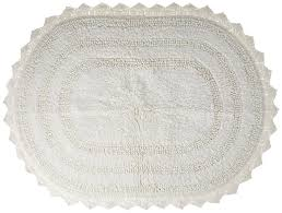 Shabby Chic Placemats by Shabby Chic Decor Cotton Crochet Large Oval Bath Rug 21 X 34