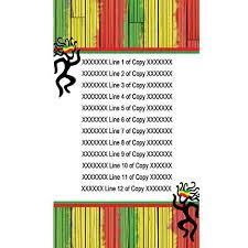 reggae personalized invitations shindigz