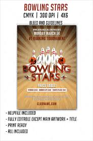 bowling flyer templates