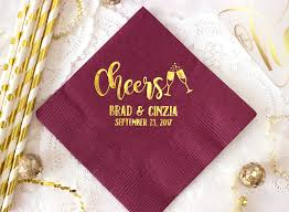 cheers wedding napkins custom napkins cocktail napkins
