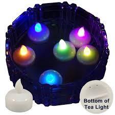 floating tea lights walmart 6 pack of led floating candle tea lights multi color changing
