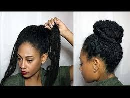 photos of braided hair with marley braid natural textured bun w marley braiding hair youtube