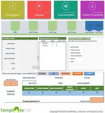Excel Template Dashboard Recruitment Manager Excel Template Dashboard Tracking Template124