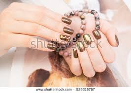 hands natural nails ideal clean manicure stock photo 573628570