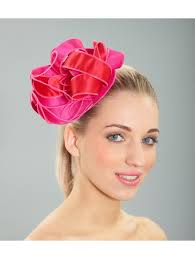 hair fascinator and pink hair fascinator from kate fearnley boutique uk