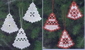 Christmas Ornaments To Buy hardanger mini trees christmas ornaments hardanger kit by permin
