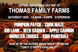 outside industrious halloween day trip to thomas family farms oct
