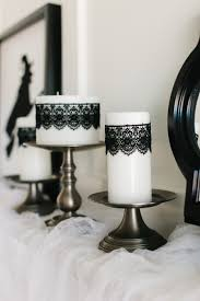 how to style a glam halloween mantel mantels black laces and studio