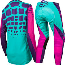 motocross fox helmets fox 2017 mx new 180 purple pink seafoam jersey pants womens