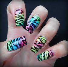 neon nail art polish alcoholic