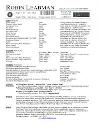 Actor Resume Templates Creative Cv Templates For Actors Resume Template Example