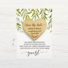 save the date in laurel wooden magnet save the date by design by eleven