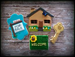new home house warming home sweet home realtor decorated sugar