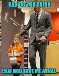 Peyton Manning Meme - peyton manning s son wants a football from cam newton carolina